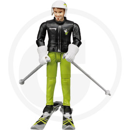 Bruder Skier with accessories