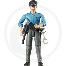 Bruder Police officer with accessories