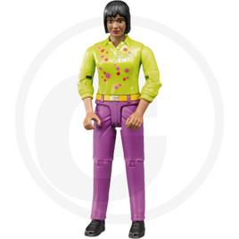Bruder Woman with purple trousers