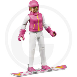 Bruder Snowboarder with accessories