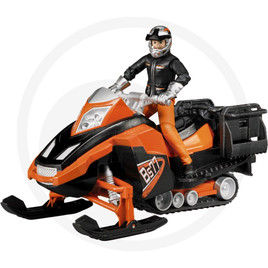 Bruder Snowmobile with rider and equipment