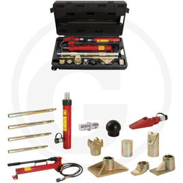 KS Tools Hydraulic car setting tool kit, 10 t, 17 pcs.